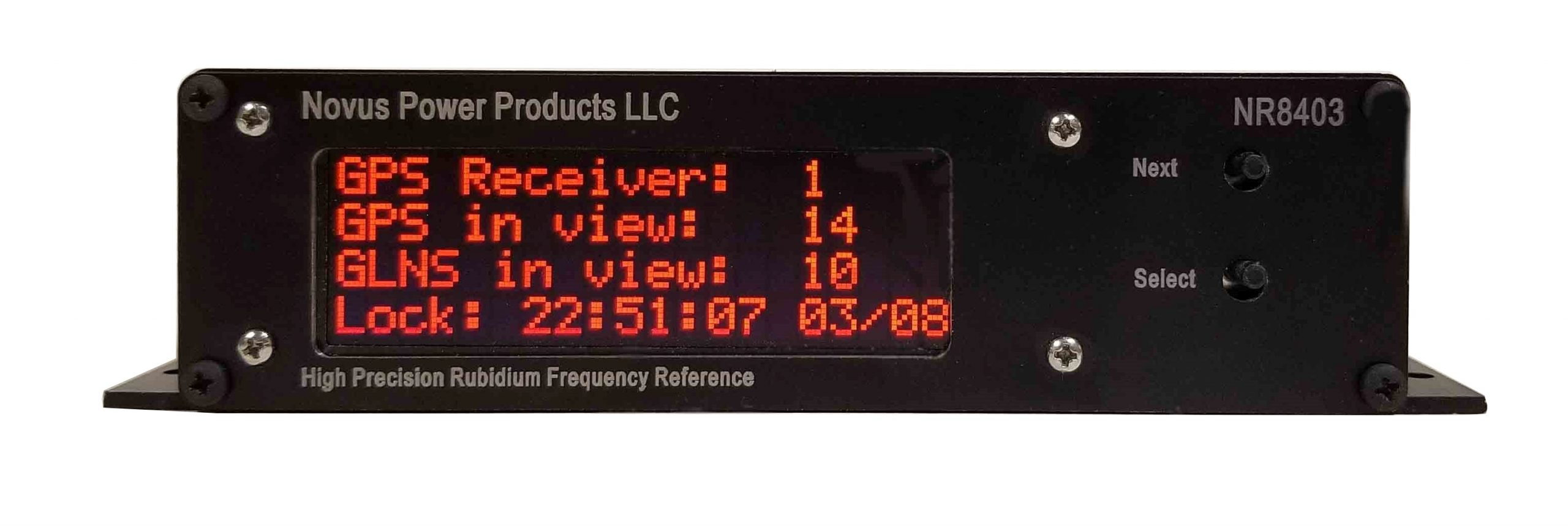 Low Noise Three Channel Rubidium Frequency Reference with Optional Display NR8403-RO Image