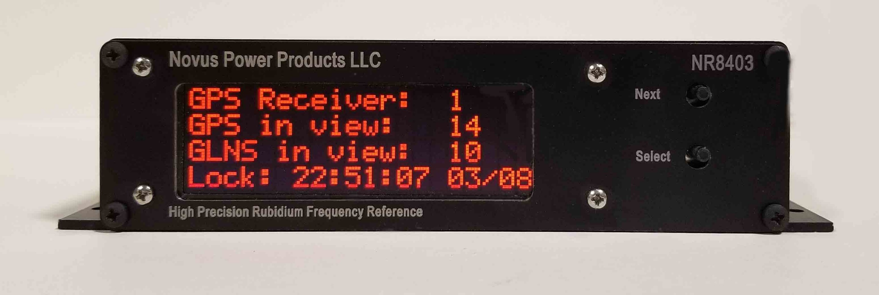 Three Channel Low Noise Rubidium GNSS Locked Frequency Reference-NR8403-ROG Image